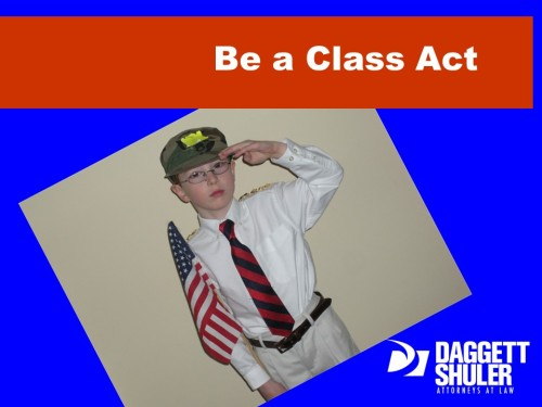 Be A Class Act!